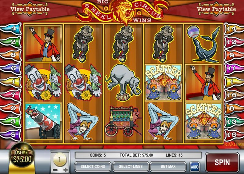 Five Reel Circus Slot